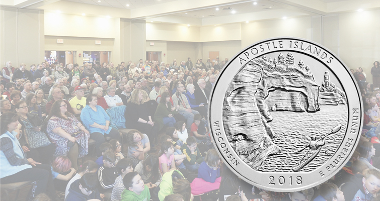 Apostle Islands National Lakeshore quarter dollar launch