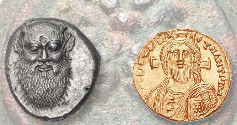 A diversity of beards on coins ancient to modern
