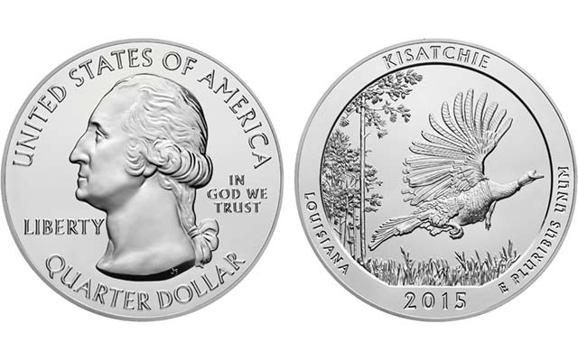 U.S. Mint reports sellout of 2015 Kisatchie National Forest 5-ounce silver