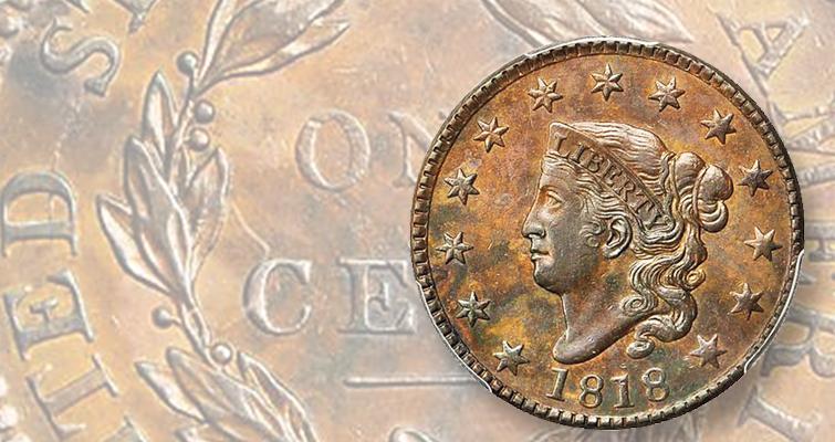 au-55-1818-coronet-cent