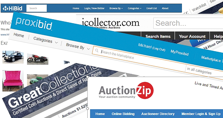 As more online auction sites appear, buyers are faced with issues ranging from credit card risk to bookkeeping.