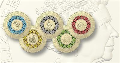 Australia Olympic $2 coins