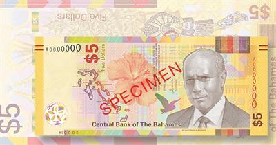 Bahamas $5 note