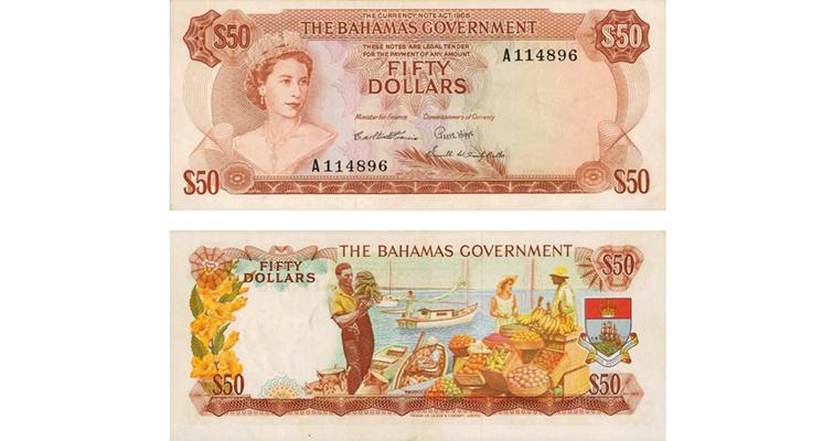 Bahamas note