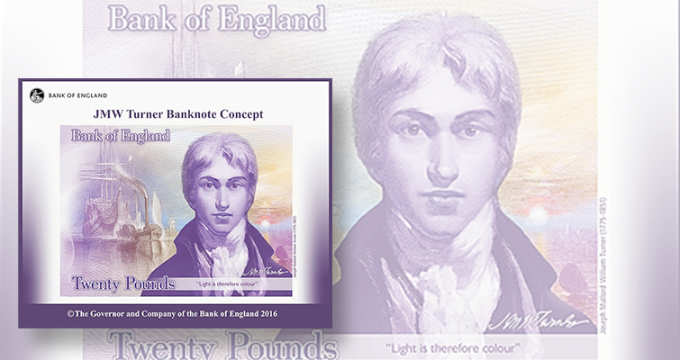 English painter to appear on Bank of England's next £20 note