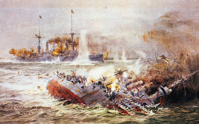 battle-of-falkland-islands-painting