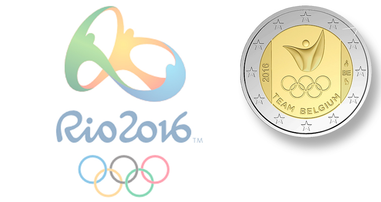 Belgium celebrates Team Belgium on circulating commemorative €2 for 2016 Olympics
