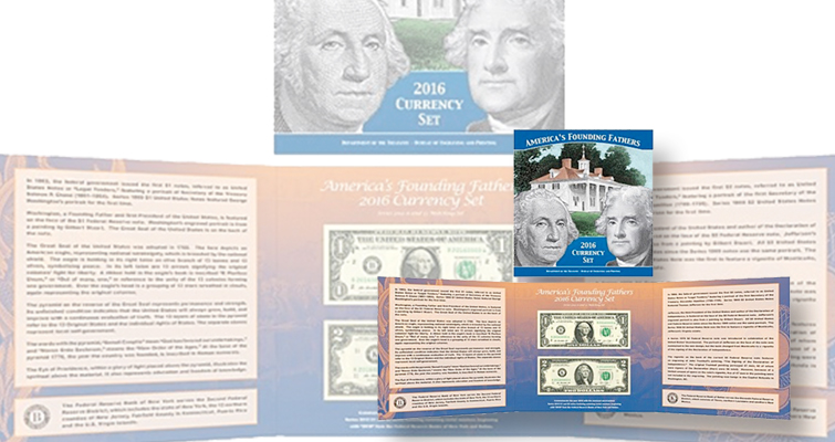 BEP to offer 2016 edition of Founding Fathers Currency set