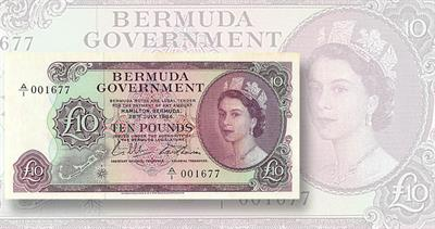 Bermuda note for auction