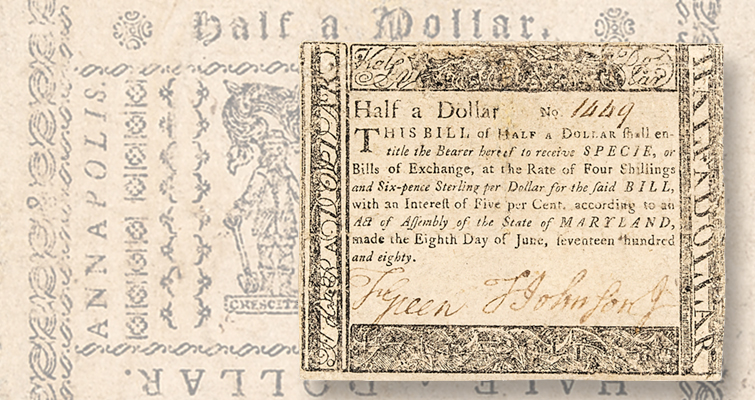 Early Colonial paper money dominates Early American online auction July 9