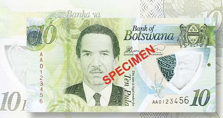 Polymer replaces traditional paper in Botswana's new 10-pula note
