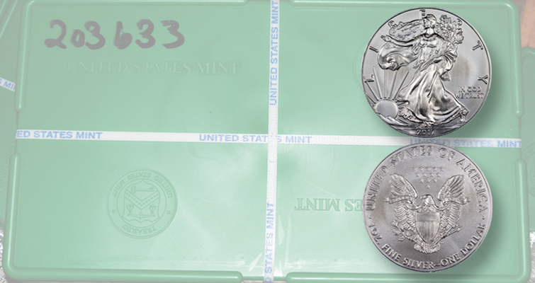 Millions of American Eagle silver bullion coins struck at San Francisco, Philadelphia