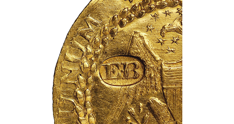 brasher-gold-obv-punchdetail