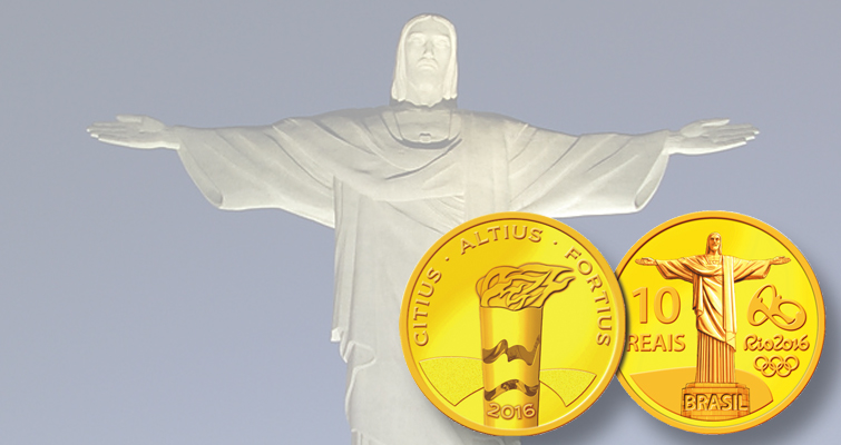 Going for gold in Brazil's 2016 Rio Olympics Games coin program