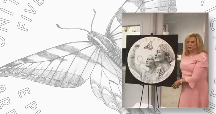 Butterflies dominate common designs for 2018 Breast Cancer Awareness coins