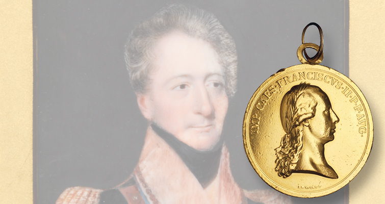 Gold medal awarded to British officer in 1794 coming to auction