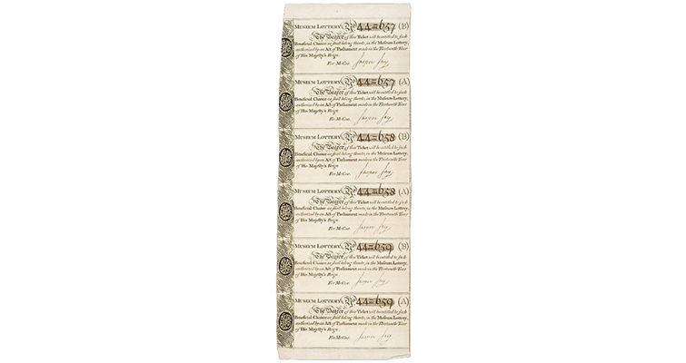 British Museum lottery tickets