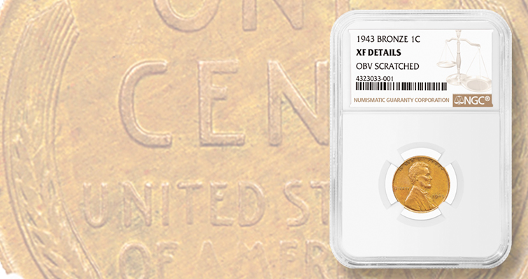 Copper 1943 Lincoln cent out of public view resurfaces