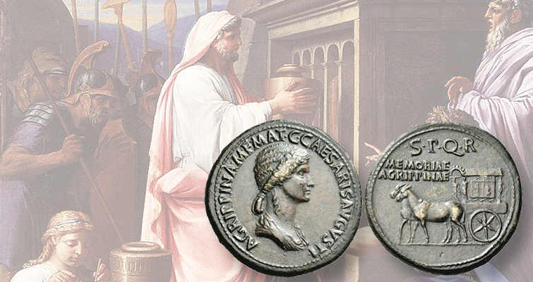 Son uses his power to honor his murdered mother on ancient Roman coins