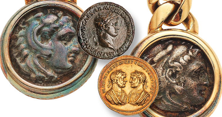 Bulgari coin jewelry on museum loan shown in New York City exhibit