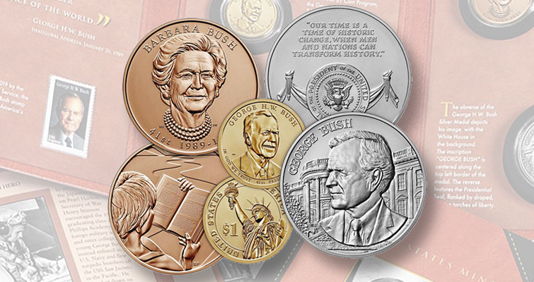 George H.W. Bush Coins and Chronicles set