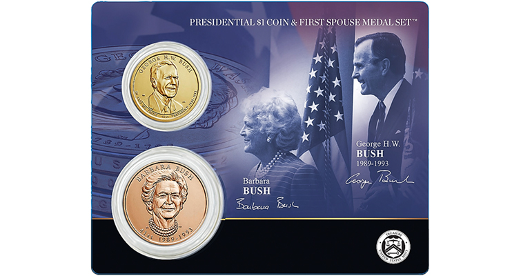 Bush coin and medal set