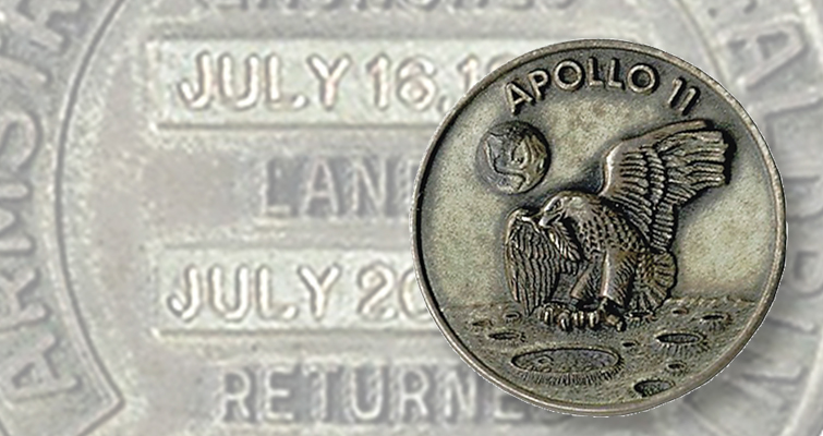 Buzz Aldrin Apollo 11 Medal Sells In May 25 Auction Coin