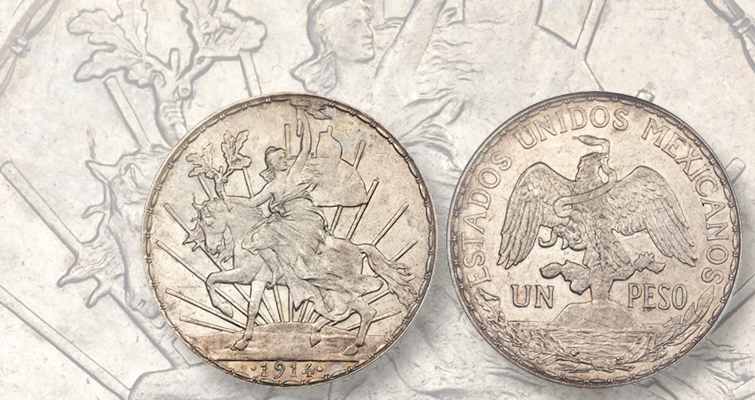 1910 Caballito silver peso is first commemorative coin of Mexico