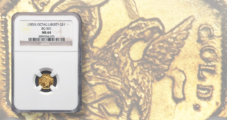 Undated Liberty gold dollar realizes $12,000+: Market Analysis