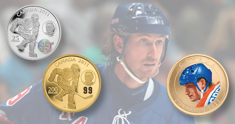 Canada's most celebrated individual hockey player appears on coins