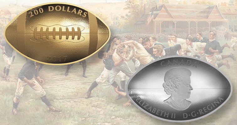 Rcm Launches Football Shaped Concave Convex Coins Coin