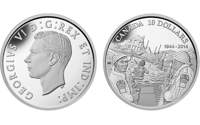 D-Day anniversary features on new Proof half-ounce silver $10 coin from Royal Canadian Mint