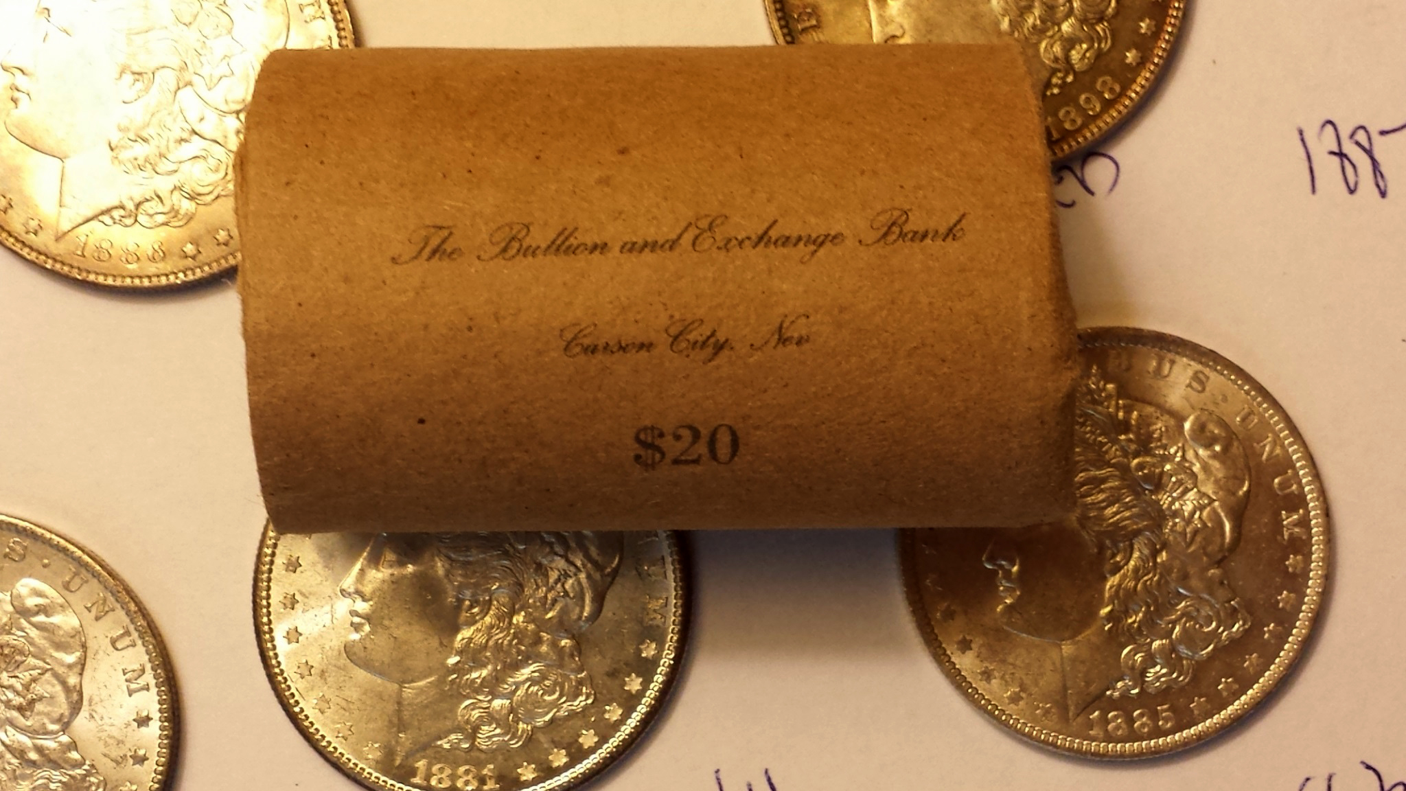 Gambling on a Morgan dollar roll