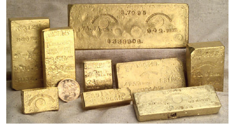central-america-selection-of-gold-ingots