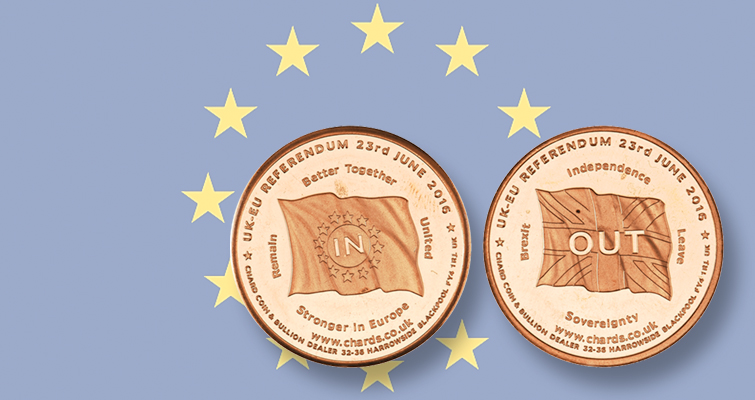 Coin dealer issues Brexit medal for undecided voters