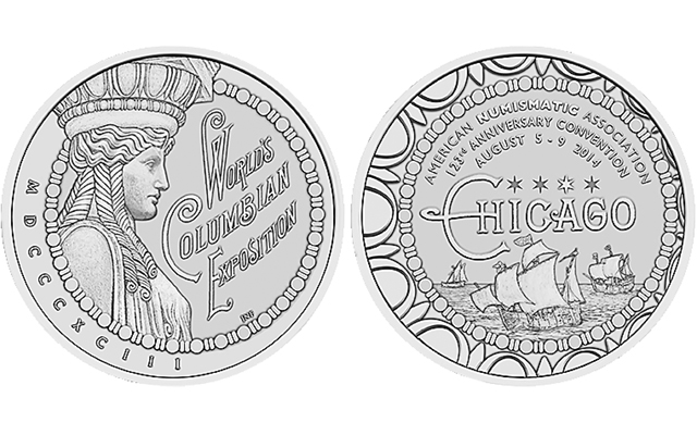 2014 ANA medal celebrates 123rd anniversary, honors 1893 World's Columbian Exposition in Chicago