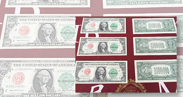 Fantasy $1 million Federal Reserve notes