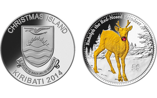'Christmas Island' nation issues Christmas-themed coins