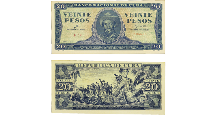 CIA Bay of Pigs 20 pesos fake merged