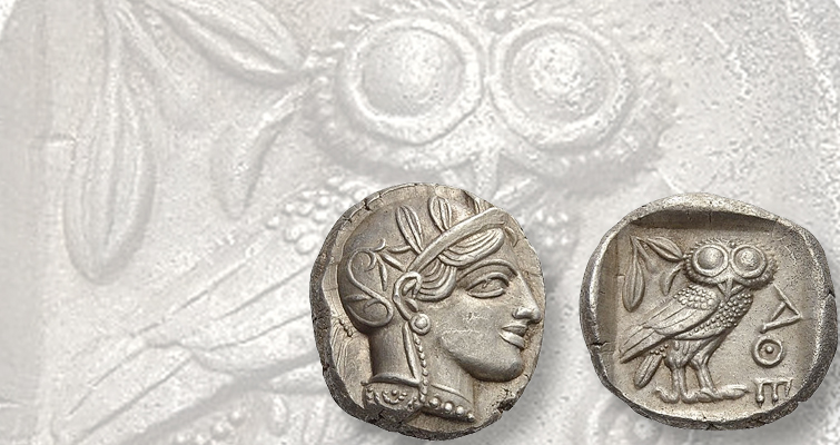 Silver tetradrachms of Athens were the original trade coins