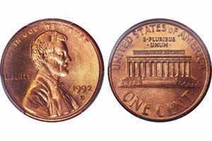 Rare 1992 Lincoln Cent Variety Brings 14 100