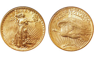 1920-S Saint-Gaudens gold double eagle: A heavily melted issue