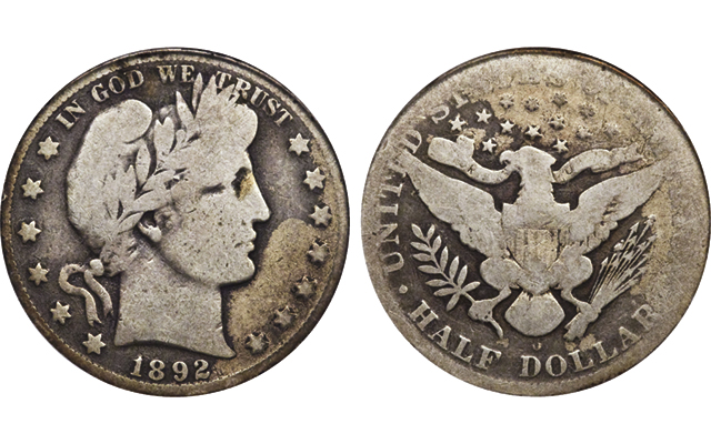 1892-O Barber half dollar with 'Micro O,' a coin with fewer than 100 examples, sells at Long Beach Expo