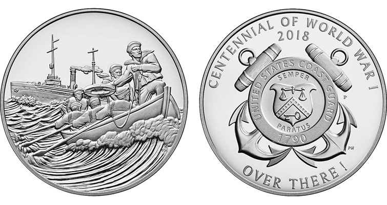 The Coast Guard Coin and Medal set with sales of 7,695 is currently the lowest sales of all five sets.