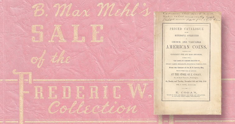 three auction catalogs