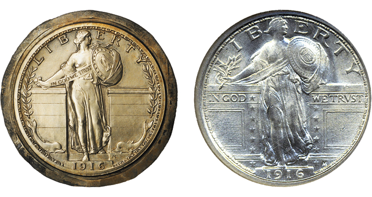 alternative design for Standing Liberty quarter dollar