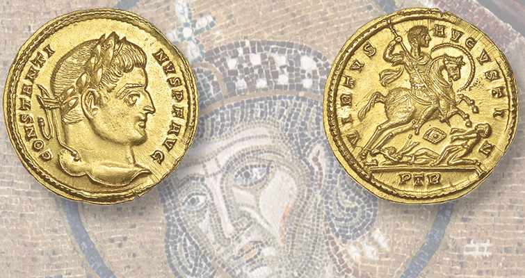 constantine-gold-solidus-in-auction