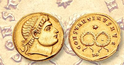 Constantine gold coin