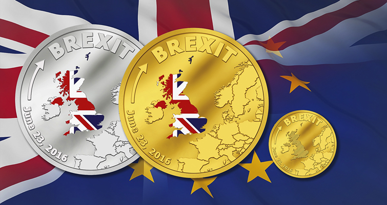 Cook Islands issues silver and gold coins marking Brexit vote