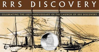 Copper nickel RRS Discovery coin